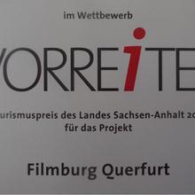 Tourismuspreis Urkunde [(c): FilmBurg Querfurt]