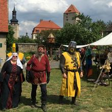 Ritter auf dem Burgfest 2019 [(c): FilmBurg Querfurt]
