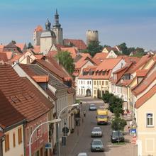 Altstadt mit Blick zur FilmBurg