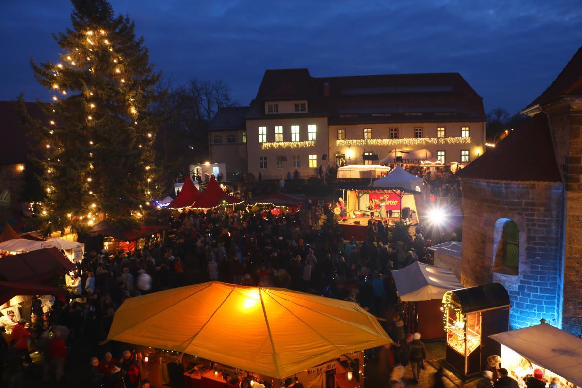 Querfurt Weihnachtsmarkt.Filmburg Querfurt Weihnachtszauber
