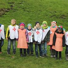 Kinderprojekt, kleine Ritter und Prinzessinnen [(c): FilmBurg Querfurt]