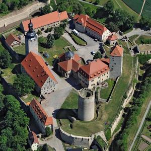 Luftbild der Filmburg Querfurt [(c): © Hajo Dietz] ©© Hajo Dietz